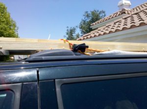 The Fastest way I have ever tied and then untied something to my roof rack!